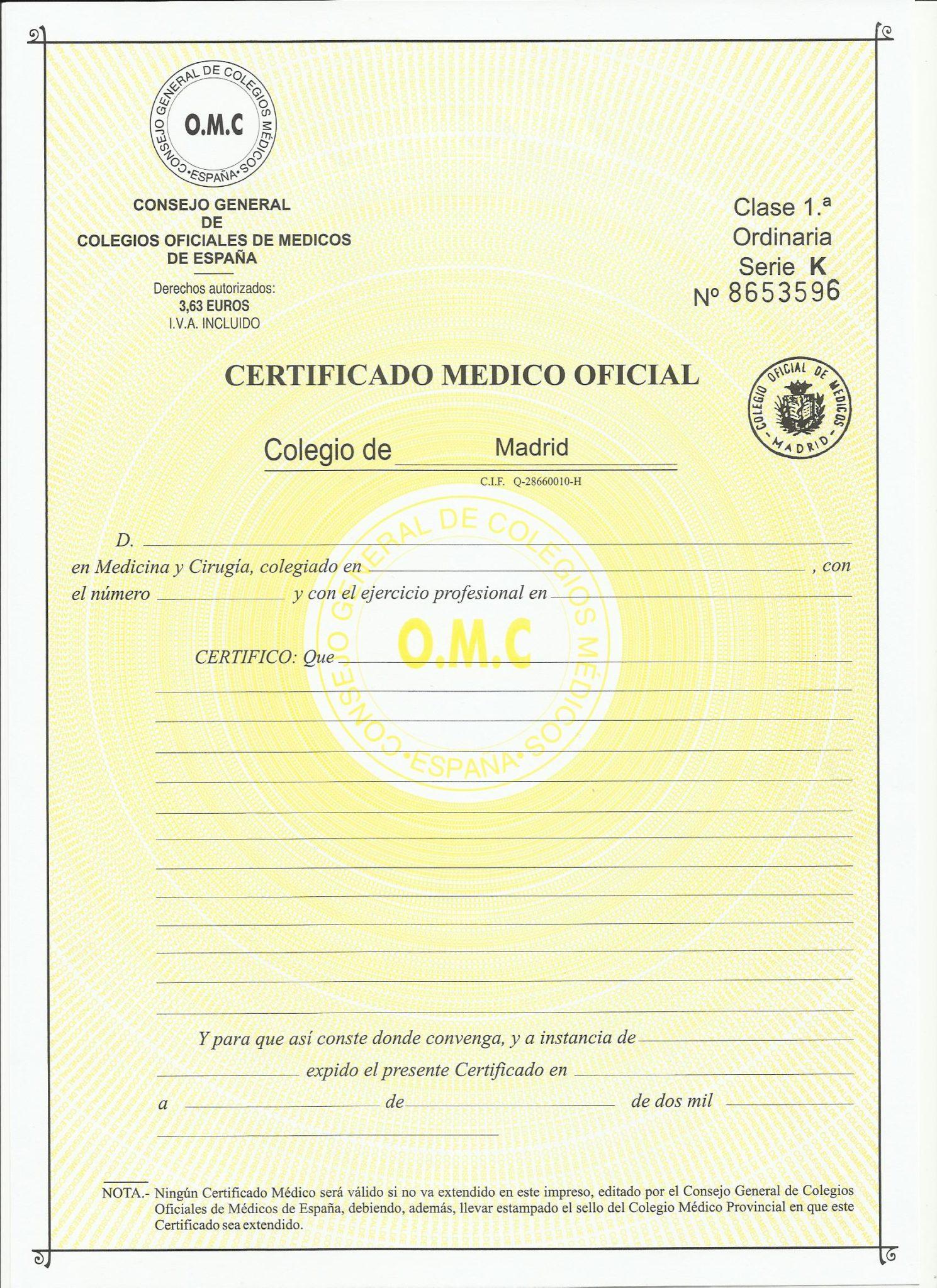 certificado m u00e9dico oficial   u00bfd u00f3nde adquirirlo   u00bfqui u00e9n lo