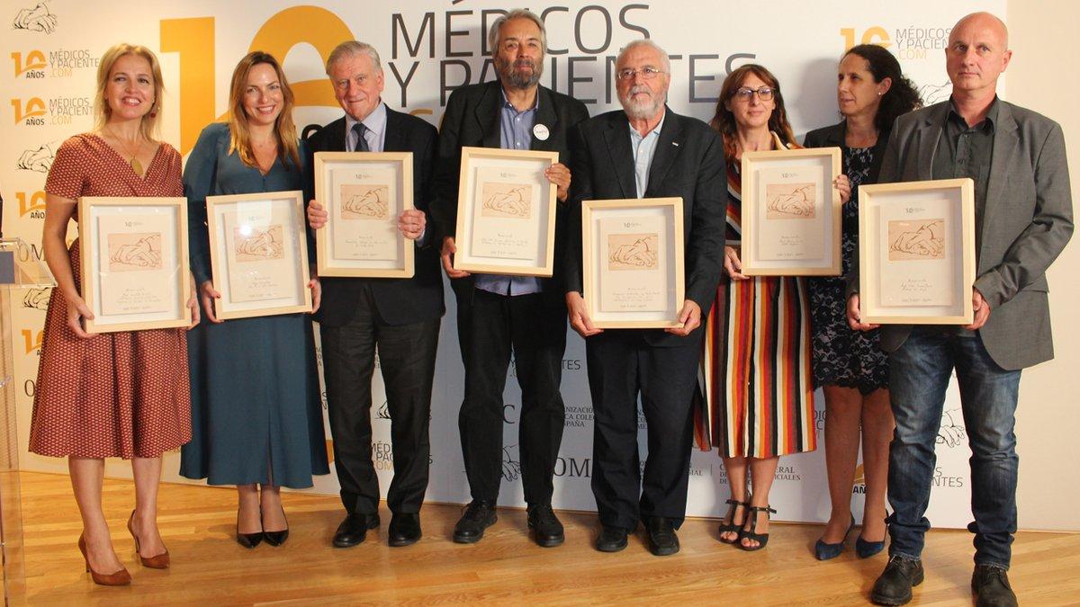 Valentín Fuster, ONT, PLAFHC, Lucía Galán, Médicos del Mundo, Down España, Cermi Mujeres y Javier Fesser galardonados por la OMC.