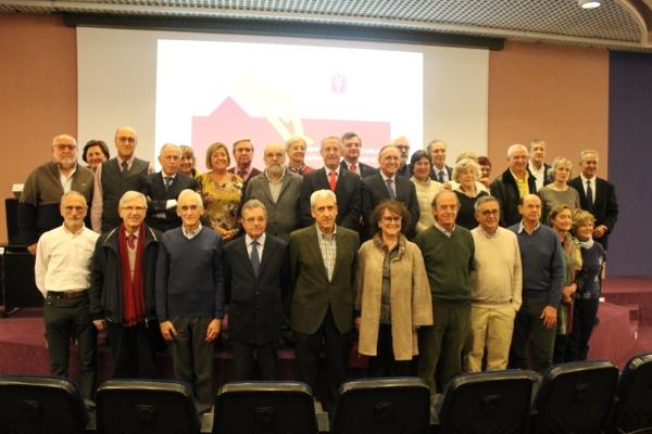 Homenaje en el Colegio de Médicos de Navarra a sus 72 jubilados en el 2018.