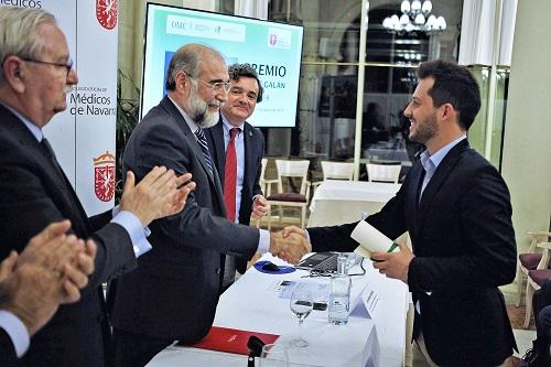 """Entrega del """"Premio Jesús Galán"""" al ingeniero navarro Guillermo Pérez."""