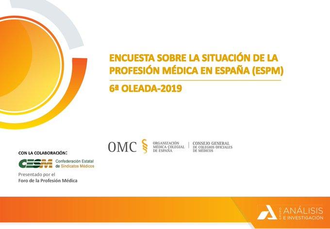 PARTICIPA en la sexta oleada de la Encuesta sobre la Situación de la Profesión Médica en España.