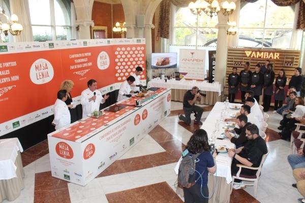 Gran Final del Campeonato de Navarra de Pintxos Tradicionales en el Restaurante el Colegio.