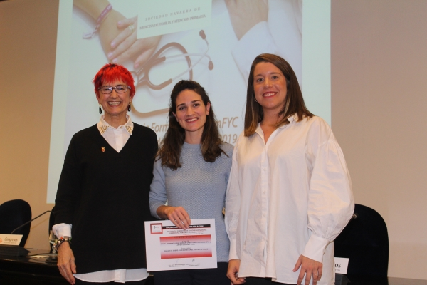 La namFYC premia una investigación sobre agresiones en el Centro de Salud de Berriozar.
