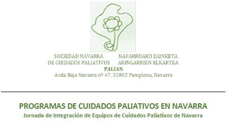 PALIAN organiza una Jornada de Integración de Equipos de Cuidados Paliativos de Navarra el viernes, 21 de febrero, en el Colegio de Médicos.