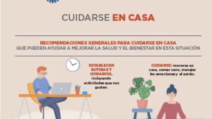 Salud Pública difunde recomendaciones para sobrellevar y humanizar el confinamiento de personas vulnerables como menores, mayores y crónicos.