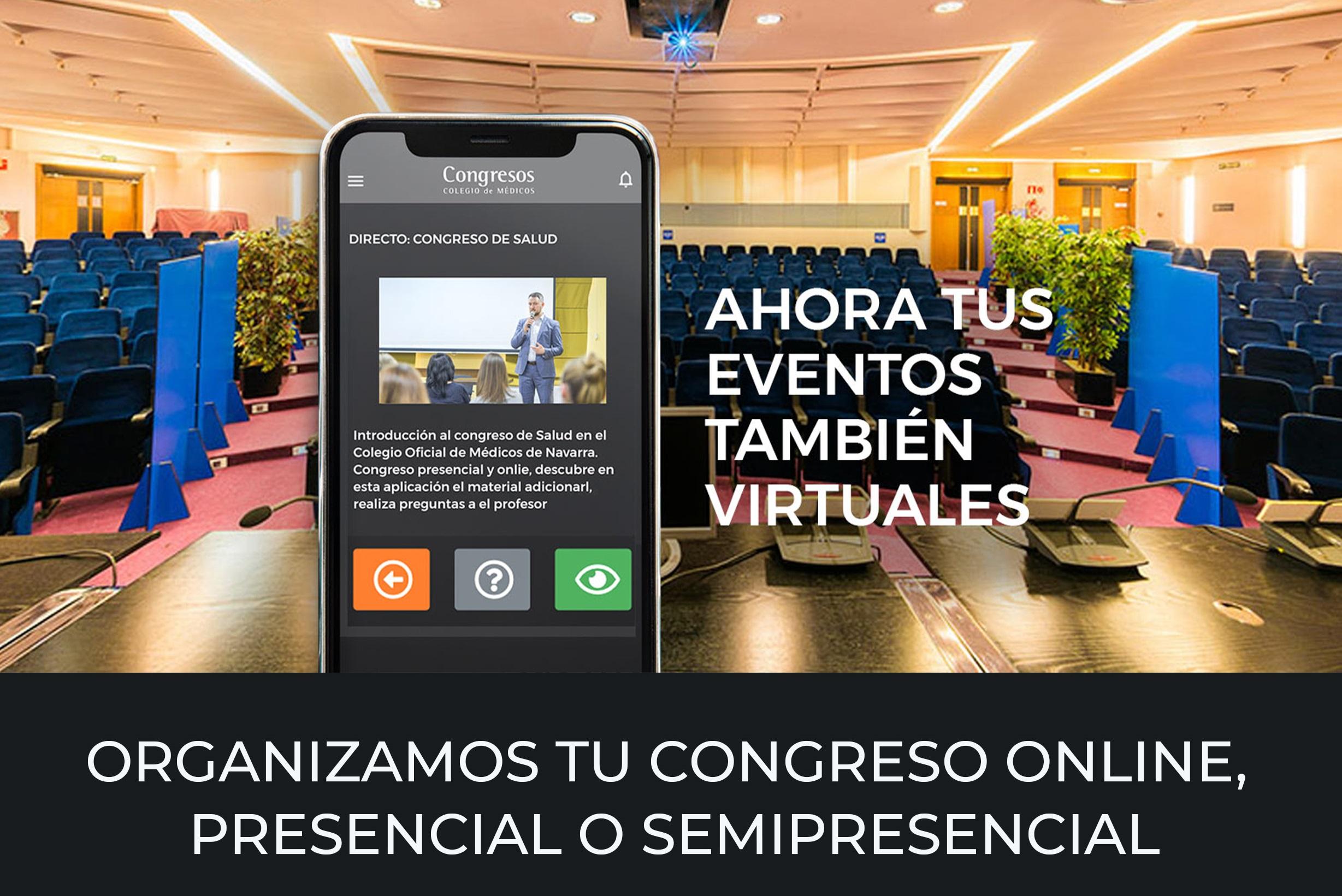 Tu Colegio contigo: Ahora tus eventos también virtuales. Organizamos tu Congreso online, presencial o semipresencial.