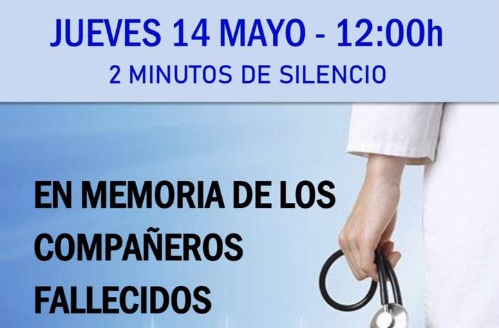 HOMENAJE A LOS 49 MÉDICOS FALLECIDOS: 14 de mayo, a las 12 horas, 2 minutos de silencio, en su memoria. Nunca os olvidaremos.