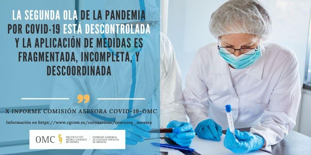 X Informe Comisión Asesora COVID-19-OMC: El control de la pandemia requiere de una estrategia y marco jurídico común.