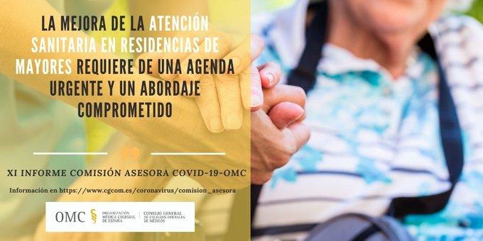 Informe: La mejora de la atención sanitaria en residencias de mayores requiere de una agenda urgente y un abordaje comprometido.