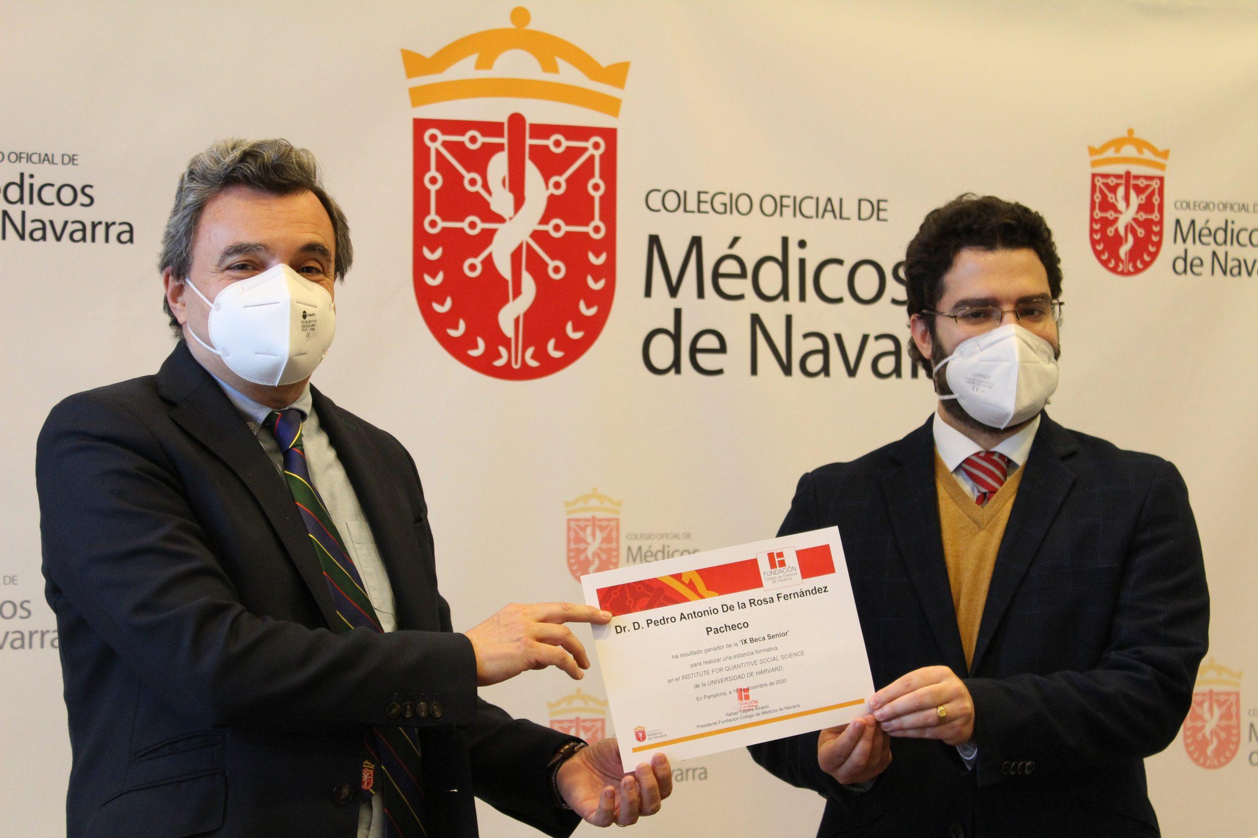 Pedro Antonio De la Rosa, especialista en Medicina Preventiva y Salud Pública, gana la Beca Senior 2020 del Colegio de Médicos de Navarra.
