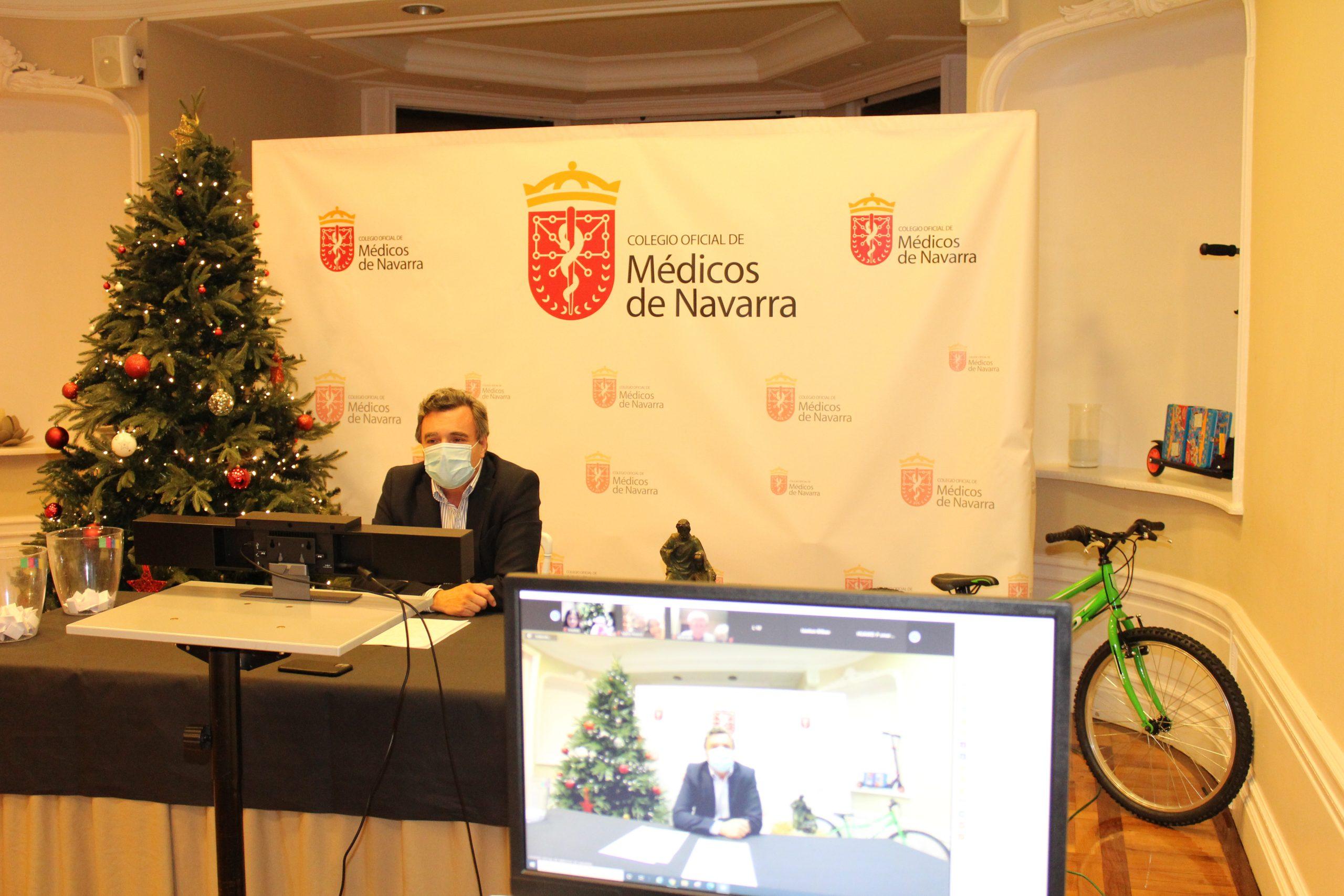 Iñaki Etayo y Maialen Redín, ganadores del X Concurso de dibujos navideños 2020.