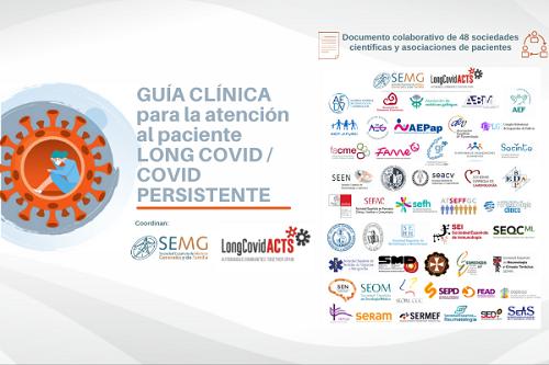 48 sociedades científicas y asociaciones de pacientes consensúan una Guía Clínica de atención al Long COVID.