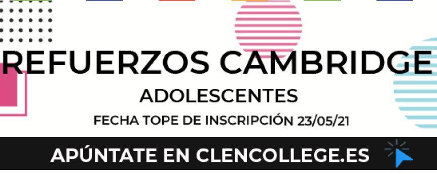 Clen College: Cursos de refuerzo para preparación del examen Cambridge, dirigidos a adultos y adolescentes.